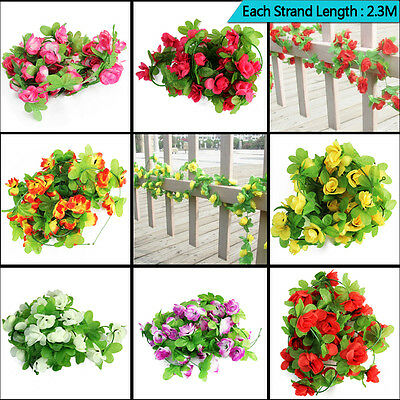 UK 7.5ft Wedding Artificial Flowers Garland Plants Foliage Decoration Ivy Leaf