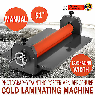 51In Cold Laminator Manual Roll Laminator Vinyl Photo Film Laminating Machine