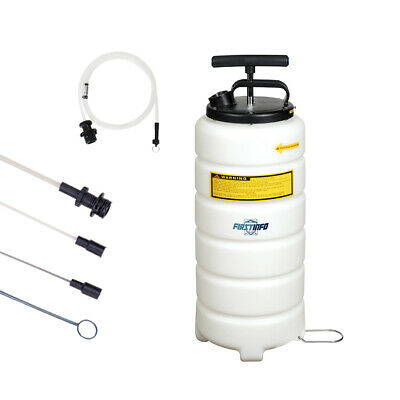 FIT TOOLS 15L Manual / Hand Operated Oil & Fluid Changer / Extractor Vacuum Pump