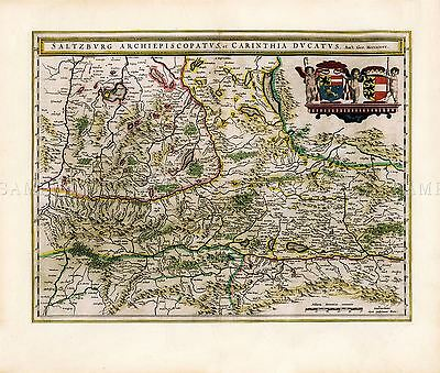MAP ANTIQUE 1801 CARY SAXONY SILESIA LUSATIA LARGE REPLICA POSTER PRINT PAM0260