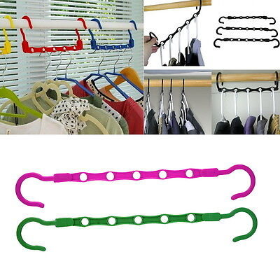 10pcs Magic Hangers As Seen On TV Save Closet Space Clothes Organizer OE