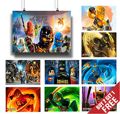 LEGO POSTER OPTIONS * A3 A4 New Lego Poster Prints Kids Children Wall Decoration