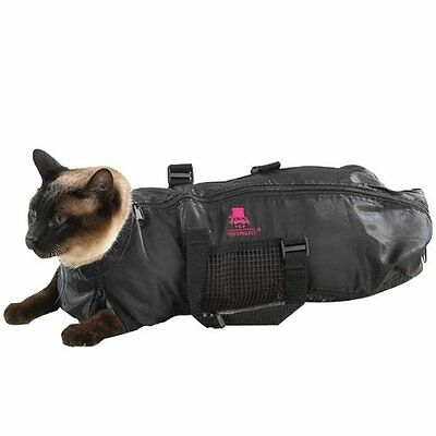 NEW Top Performance Nylon Cat Grooming Bag Medium Black FREE SHIPPING