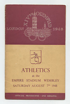 Orig.PRG   Olympic Games LONDON 1948  //  ATHLETICS  07.08. / 5 Final`s !! RARE