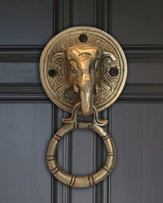 Brass Elephant Solid Door Knocker  Antique Finish Home Decor Accessories