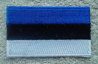 ESTONIA FLAG PATCH Embroidered Badge Iron or Sew on 4.5cm x 6cm Eesti Vabariik