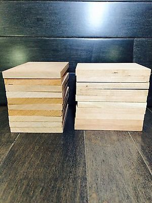"20 unfinished, wood cherry kiln dried craft pieces, 5/16"" x 2 5/8"" x 3 1/2-4"""