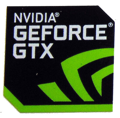 NVIDIA GEFORCE GTX STICKER LOGO AUFKLEBER 18x18mm (252)