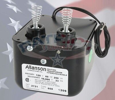 Allanson 2721-668 120V In 10,000V Out Ignition Transformer For Wayne HS Burners