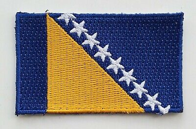 BOSNIA AND HERZEGOVINA FLAG PATCH Embroidered Badge Iron Sew on 4.5cm x 6cm