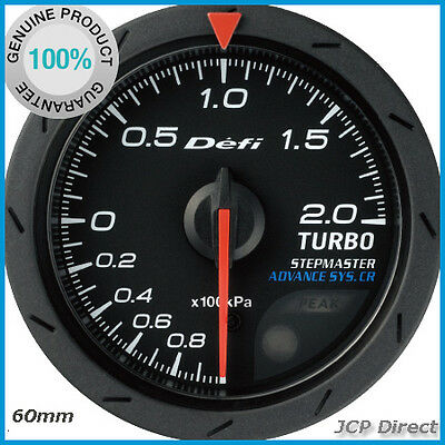 DEFI ADVANCE CR Turbo Boost Gauge 200kPa Black Dial 60mm