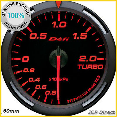 DEFI Racer Gauge Turbo Boost Gauge 60mm Amber Red