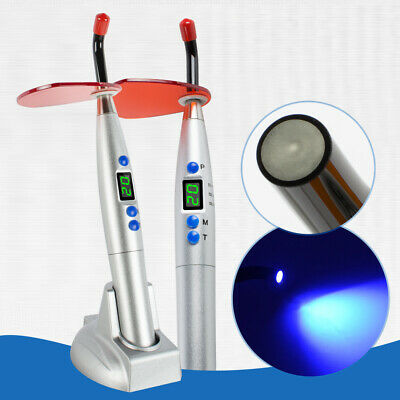 US SALE Silver for dentist Dental 1800mw Wireless Cordless LED Curing Light Lamp