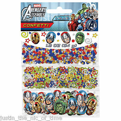 AVENGERS ASSEMBLE Boys Birthday Party Supplies Decorations Sprinkles CONFETTI