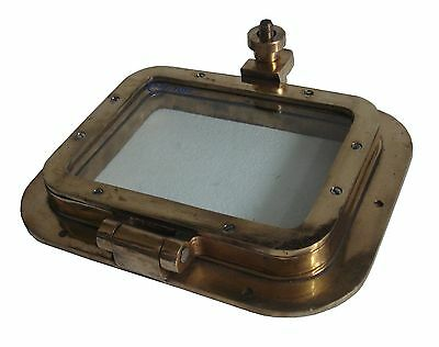 "Marine BRASS PORT HOLE / Window - 9"" x 11"" - RECTANGULAR -100% SATISFACTION"