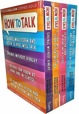 How to Talk So Kids and Teens Will Listen 4 Books Collection Set Pack New Cover