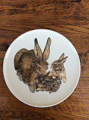 """Goebel """"Mothers Series"""" Rabbits Plate in Bas Relief 1975 1st Edition w/COA & box"""