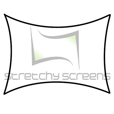 Rectangle Lg Flat Panel, Stretch Screen, Spandex Backdrop, 7' X 10'