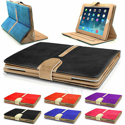 iPad Suede Leather Book Case Cover for AIR 1/2- iPad(2/3/4) -Mini(1/2/3) 4Retina