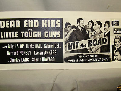 Dead End Kids in Hit the Road Coming Attraction Movie  Window Card  Shep Howard