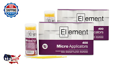 800 ELEMENT Micro Applicator Microapplicators Microbrush Dental - SMALL / YELLOW
