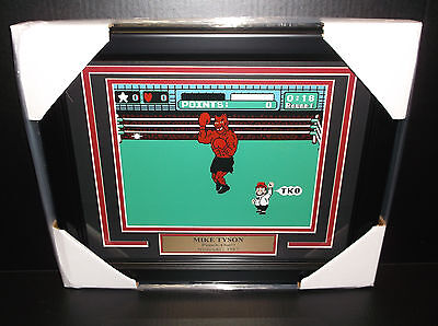 Iron Mike Tyson 8X10 Photo Framed Punch-Out Nintendo 1987