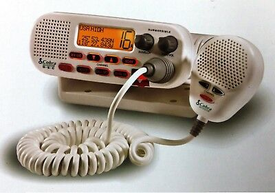 Cobra MR F45-D Class D DSC VHF Marine Radio White boat marine MD