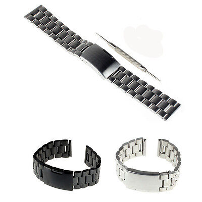 22mm Stainless Chains  Metal Watch Band + Tool For LG W150 G Watch Urbane