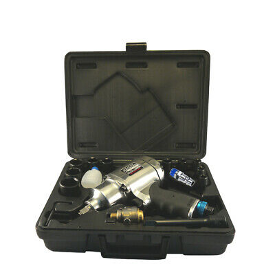 """FIT 1/2"""" Heavy Duty Dr Air / Pneumatic Impact Wrench Kit 8 Select 780ft 1055Nm"""