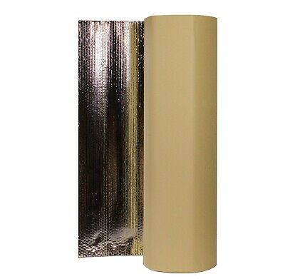 25x1.05m Self Adhesive Thermal Acoustic Bubble Foil Insulation Home Caravan Van