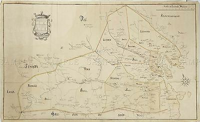 Map Antique 18Th Century Anon Medelpad Sweden Large Replica Poster Print Pam2005