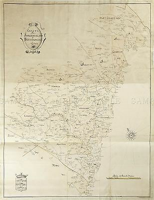 Map Antique 18Th Century Anon Angermanland Sweden Replica Poster Print Pam2004