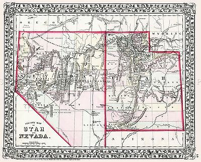 MAP ANTIQUE 1864 MITCHELL CINCINNATI CITY PLAN LARGE REPRO POSTER PRINT PAM1830