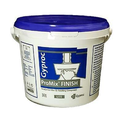 Gyproc Readymix Filler & Finishing Compound 3LT Handy Tub - Fast 48hr Delivery