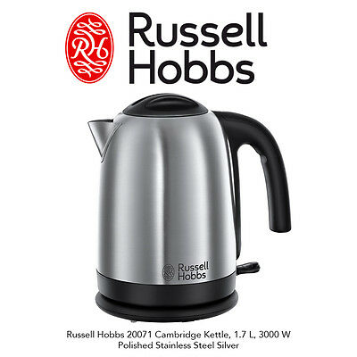 Russell Hobbs 20071 Cambridge Cordless Jug Kettle Polished Stainless Steel 1.7L