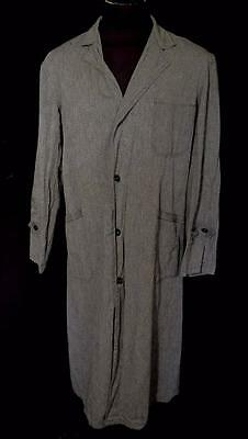 Very Rare Vintage 1940's-1950's French Dark Grey Cotton Work Coat Size Ex Large