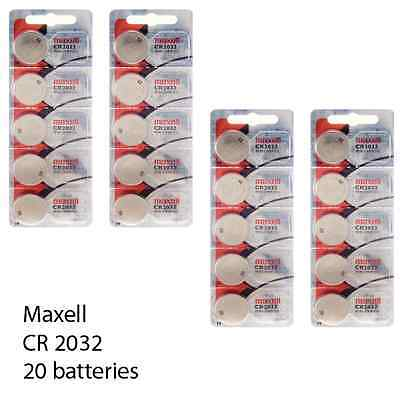 Maxell CR2032 3 Volt Lithium (20 Batteries) - Tracking Included!
