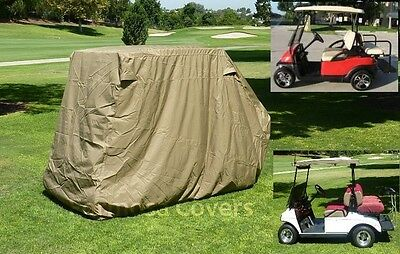 "Golf cart 4 passenger with 2 seater roof up to 58"" in taupe"