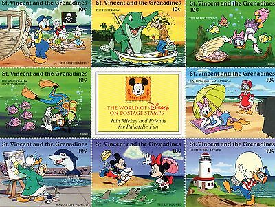 Bloc Timbres Neufs Walt Disney Mickey Sea And Shore : St Vincent Et Grenadines