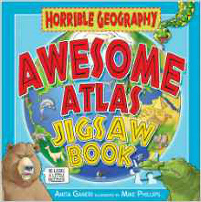 Awesome Atlas Jigsaw Book (Horrible Geography), New, Ganeri, Anita Book