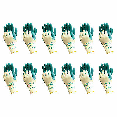 Atlas 310 Grip Multi-Purpose Coated Large Gardening Nylon Work Gloves, 12-Pairs