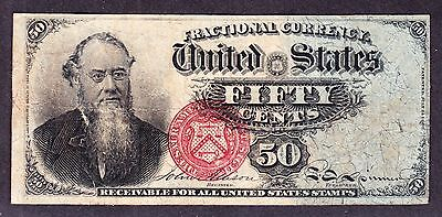 US 50c Fractional Currency Stanton 4th Issue FR 1376 VF -008