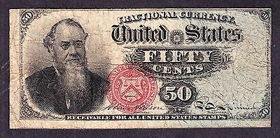 US 50c Fractional Currency Stanton 4th Issue FR 1376 VF -009