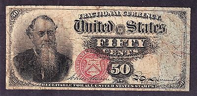 US 50c Fractional Currency Stanton 4th Issue FR 1376 F-VF -004