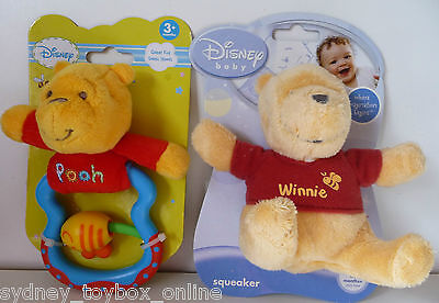 Disney Baby Winnie the Pooh Squeaker and Bee Rattle (Last 3)