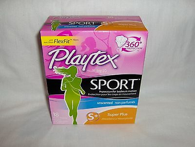 Playtex Sport Unscented Super Plus Absorbency 18 plastic tampons - 4 counts