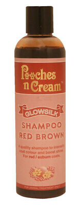 Pooches N Cream Glow Silk Colour Shampoo RED BROWN Dogs Cats Kennels show