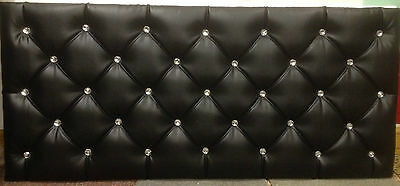 EXTRA Diamonds Design Leather headboard in all sizes & many colours cheap price