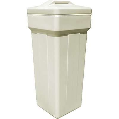"""Complete square brine tank for water softener 15x36"""" with safety float valve"""