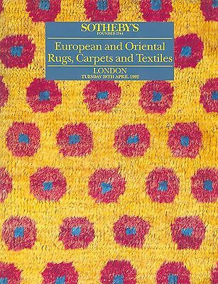 SOTHEBY´S European and Oriental Rugs, Carpets and Textiles London April 1992